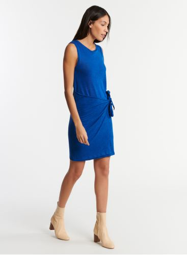 Round neck tie dress