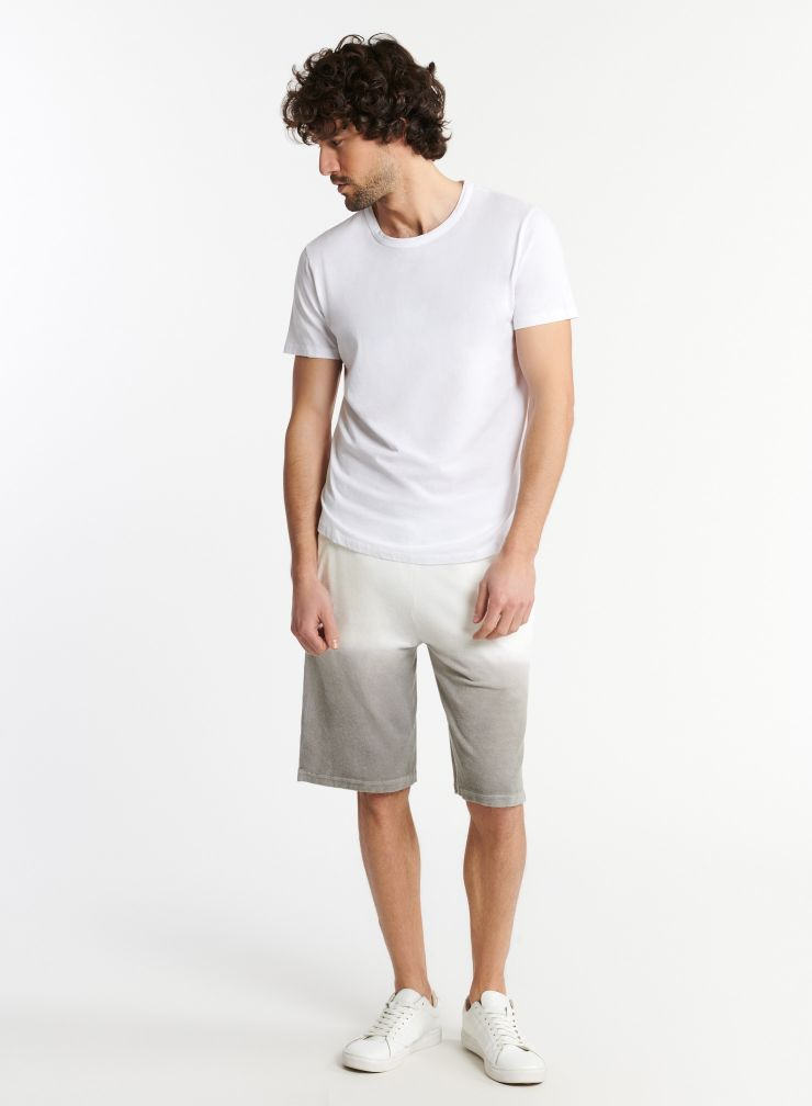 Man - Terry-cloth dip dye shorts