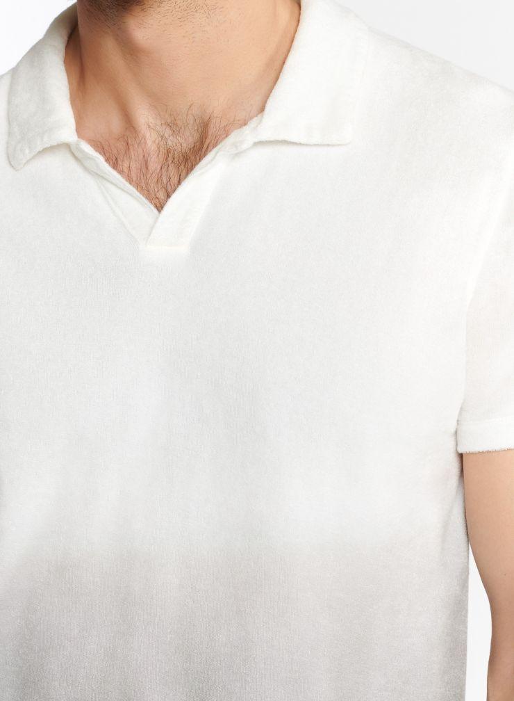 Homme - Polo éponge dip dye