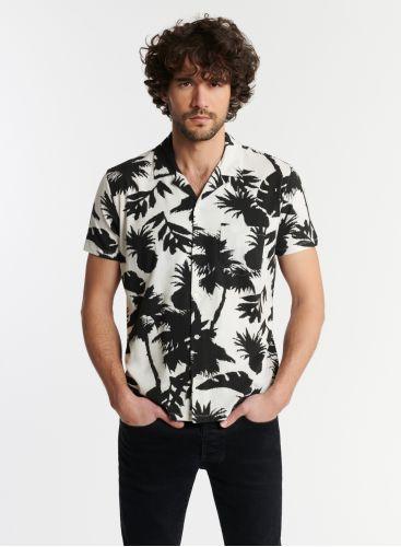 Homme - Chemise manches courtes imprimé palmier