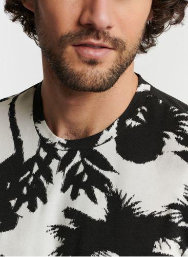 Homme - T-shirt col rond imprimé palmier