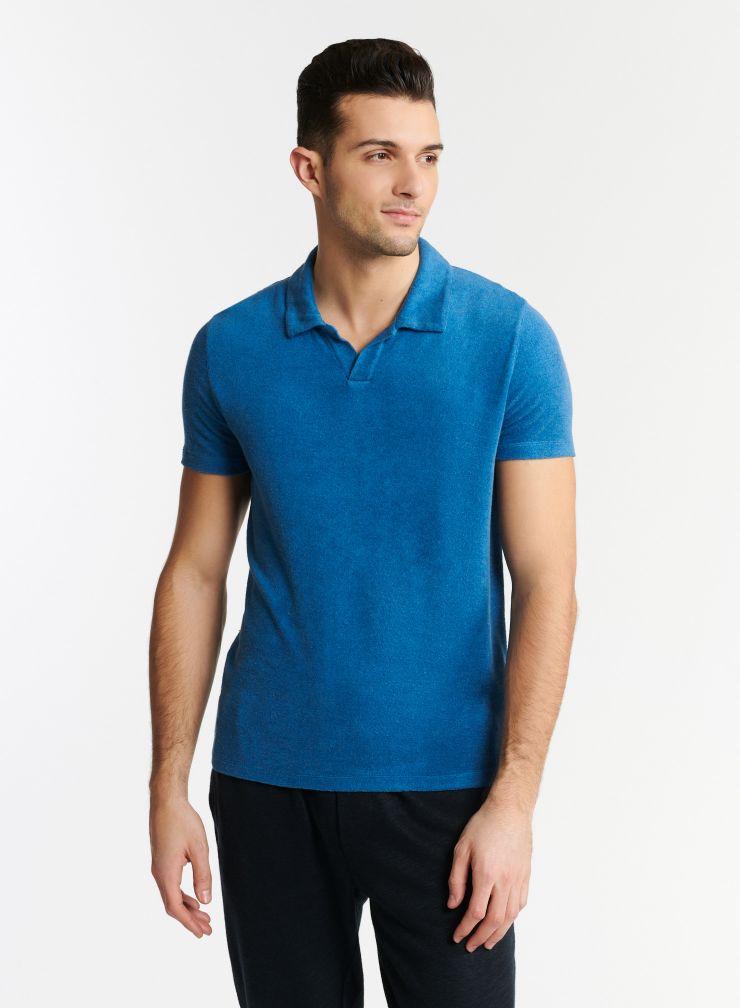 Man - Terry-cloth polo shirt