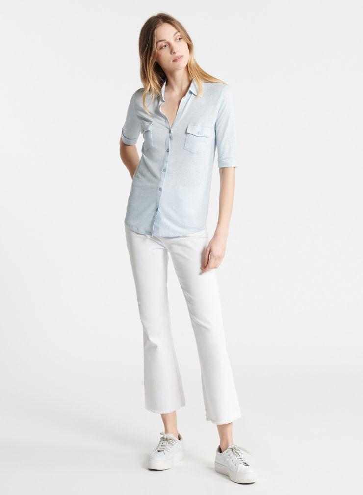 Lydia V-neck 2 pockets shirt