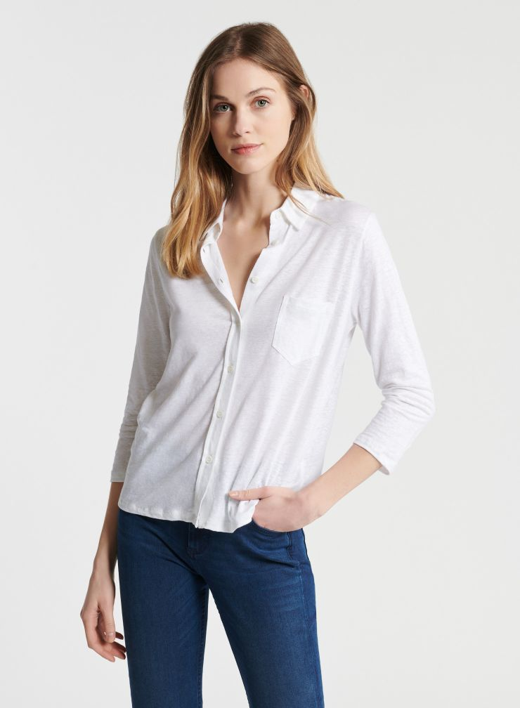 1 pocket 3/4 sleeve shirt