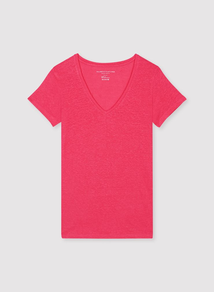 T-shirt col V Lisa