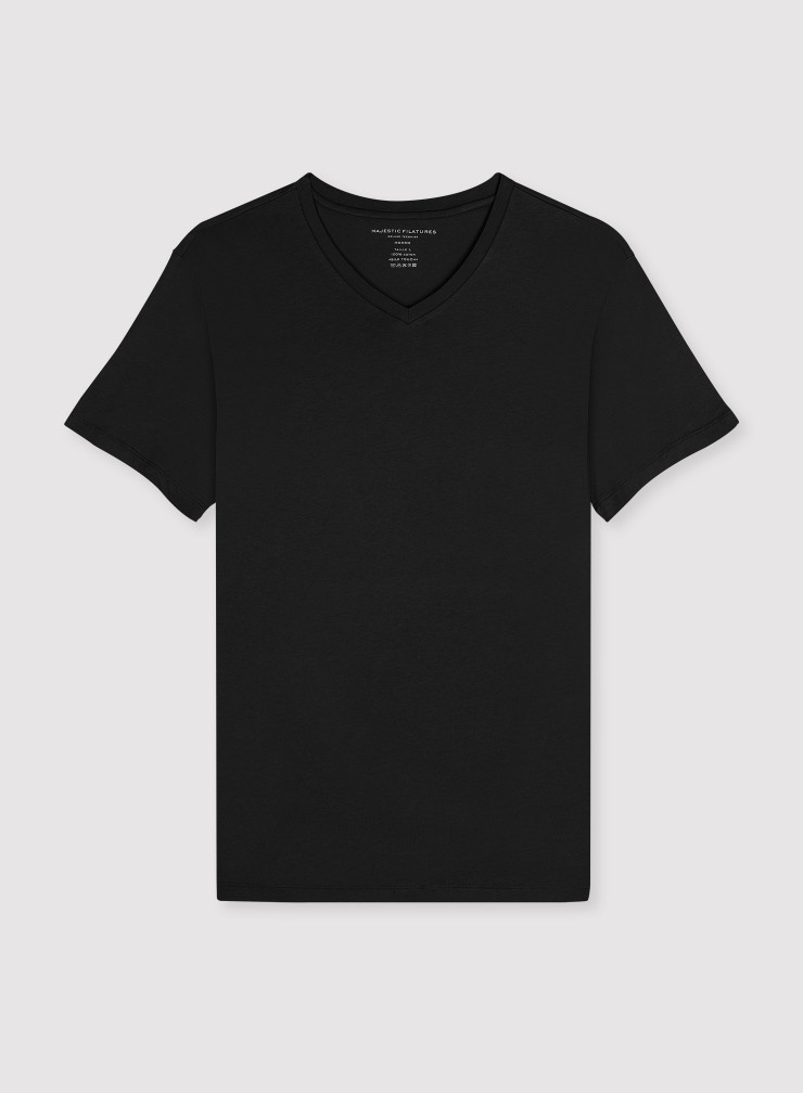 T-shirt col V Homme Coton Silk Touch
