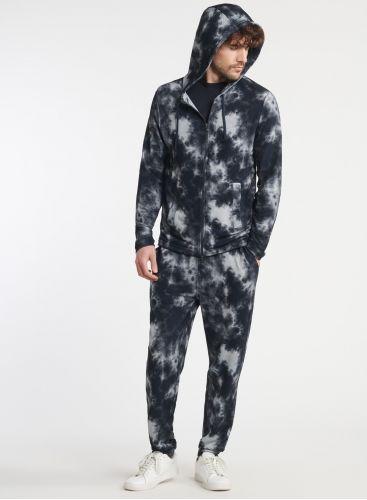 Homme - Sweat zippé à capuche tie & dye