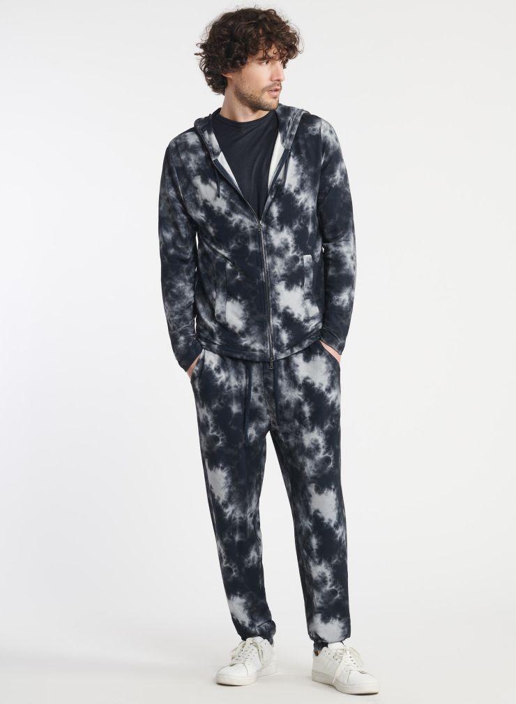 Man - Tie & dye zip-up hoodie