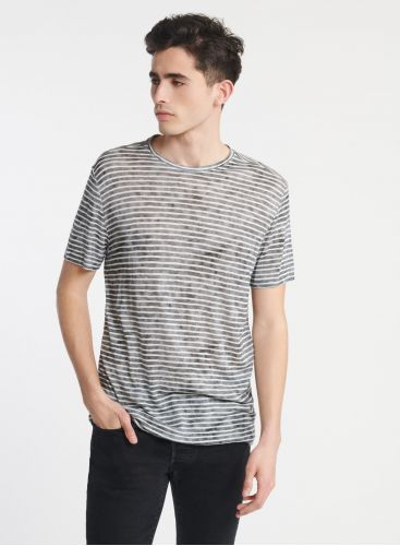 Homme - T-shirt col rond rayures