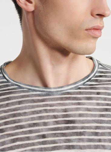 Man - Round neck striped T-shirt