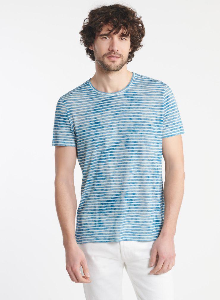 Man - Round neck striped T-shirt