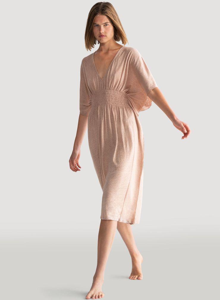 Long V-neck dress