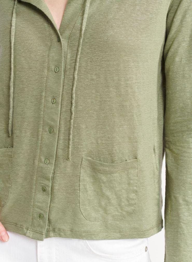 Patch pockets cardigan