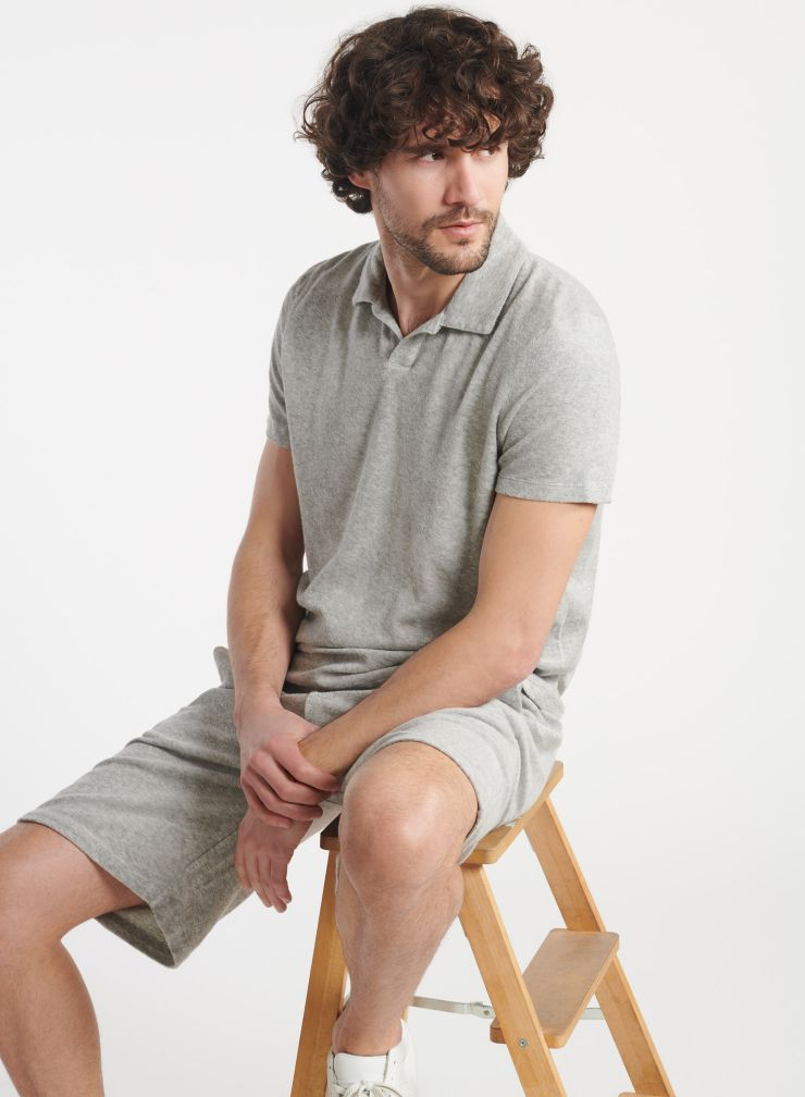 Man - Terry-cloth polo shirt