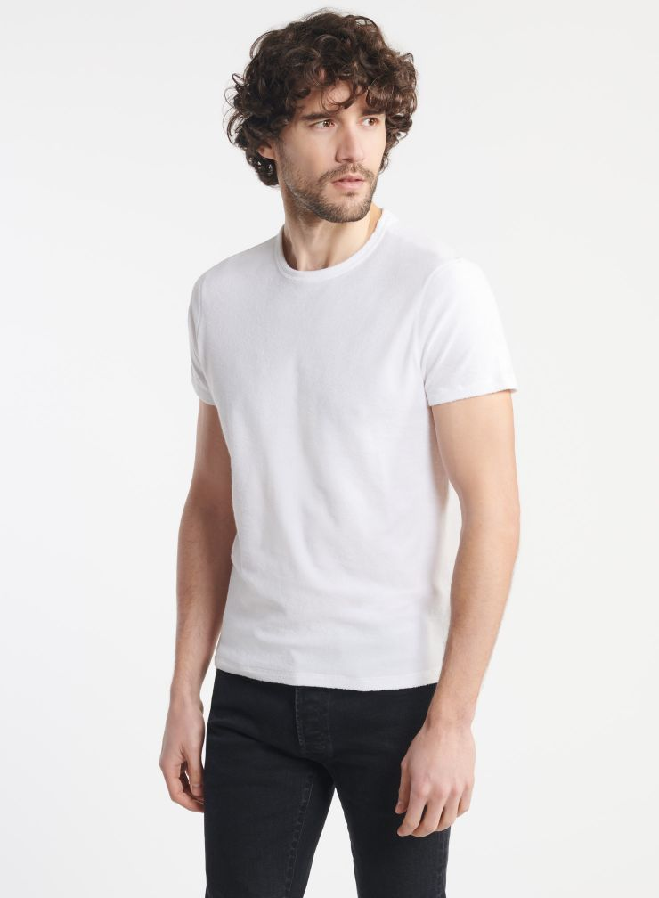 Man - Terry-cloth round neck T-shirt