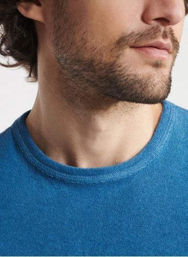 Man - Terry-cloth round neck T-shirt