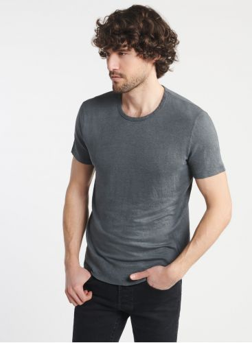 Homme - T-shirt col rond teinture artisanale