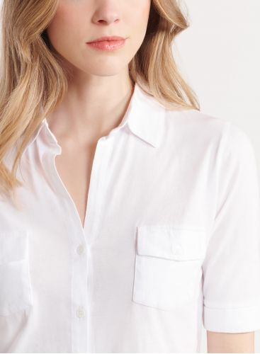 Silk Touch elbow sleeve shirt