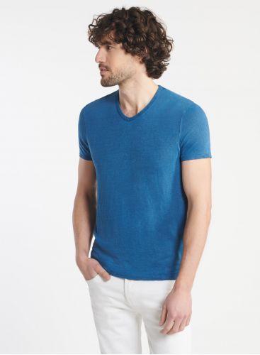 Homme - T-shirt col V teinture artisanale