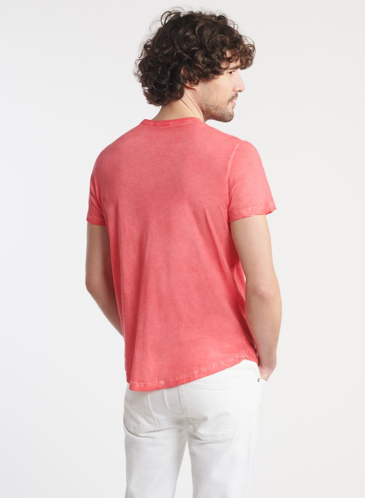 Homme - T-shirt col rond teinture artisanale