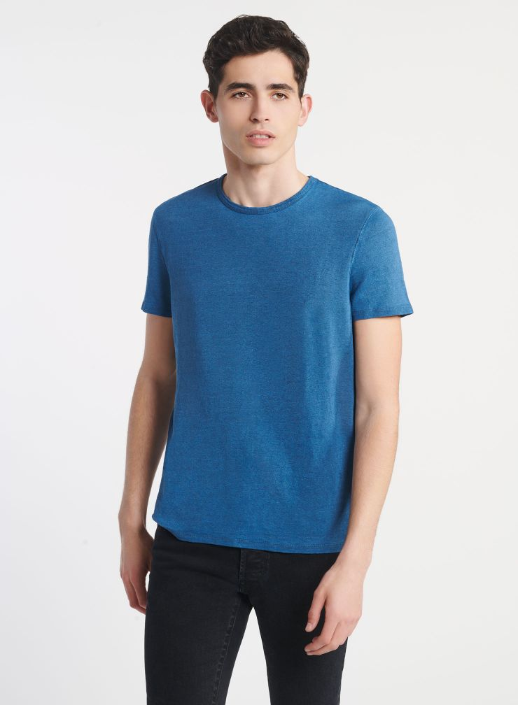 Man - Hand dyed round-neck T-shirt