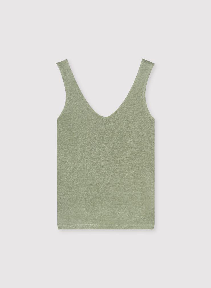 V-neck tank top
