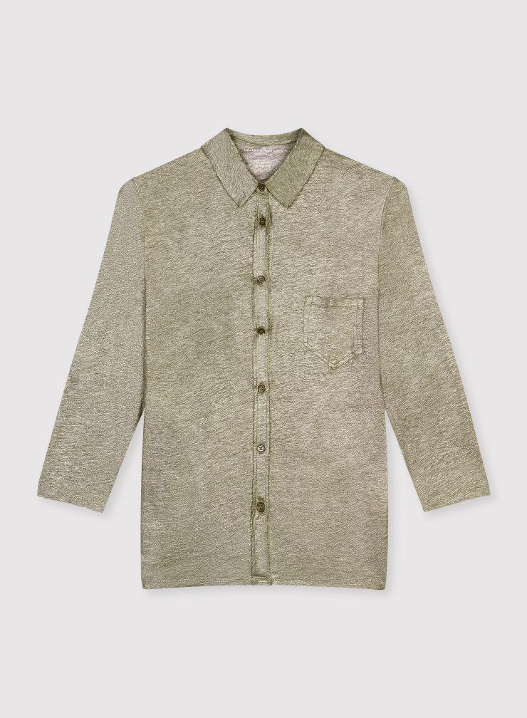 3/4 shimmering sleeve shirt