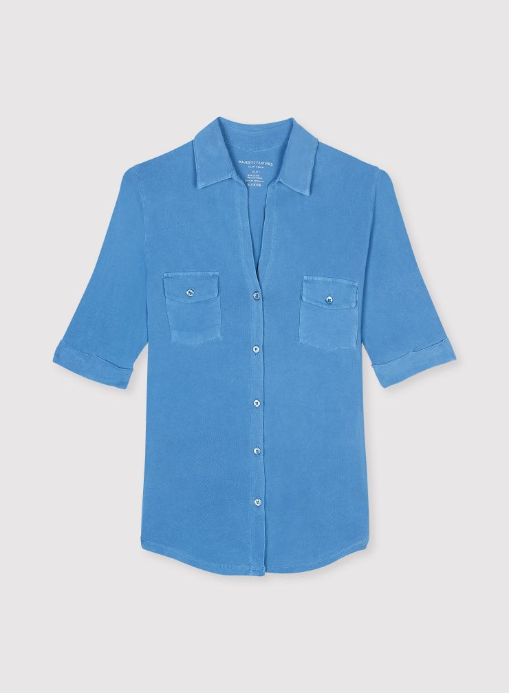 Chemise manches coudes