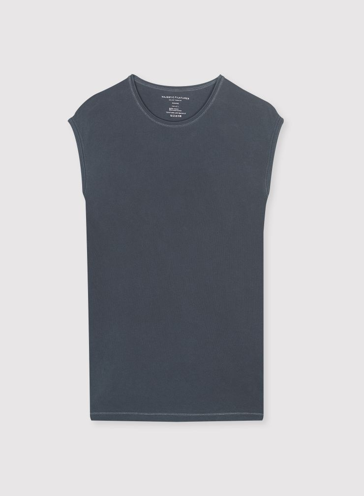Man - Rolled finish round neck T-shirt