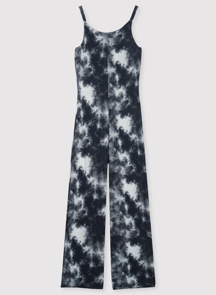 Combinaison molleton imprimé tie & dye