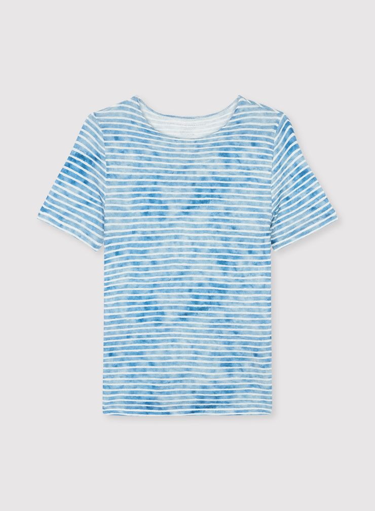 T-shirt col rond rayures
