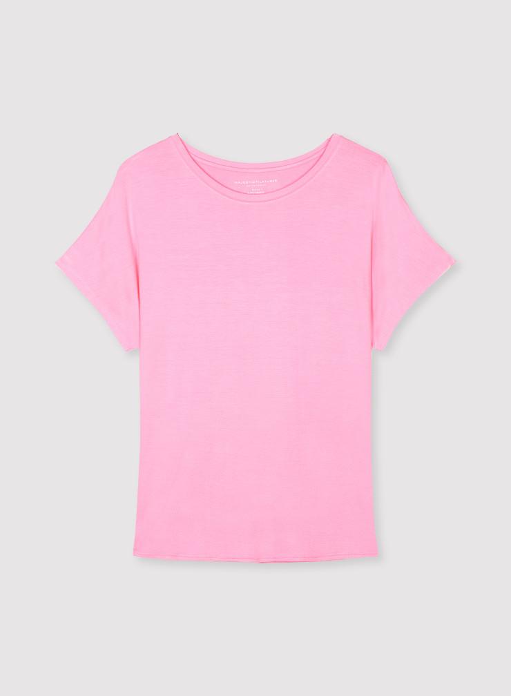 Boxy round neck T-shirt