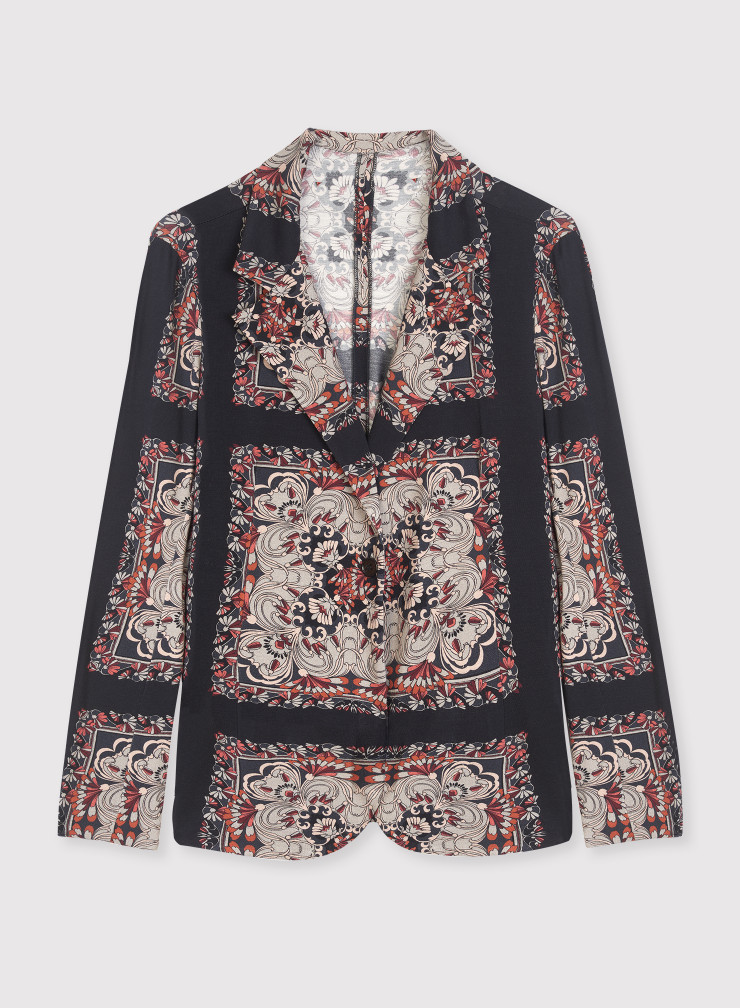 Scarf print jacket