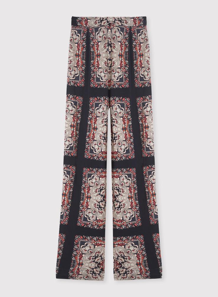 Pantalon imprimé foulard