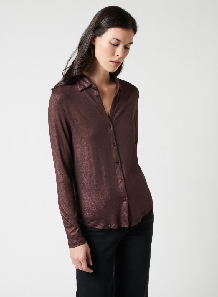 V-neck shimmering Shirt