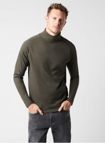 T-shirt col roulé manches longues