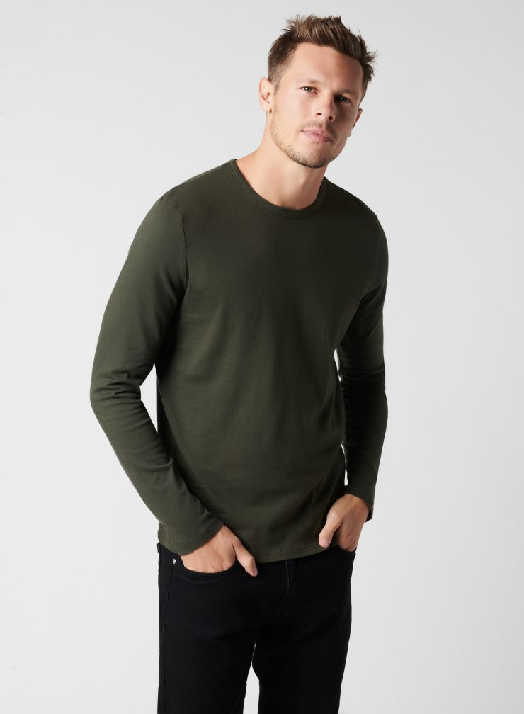 T-shirt col rond manches longues