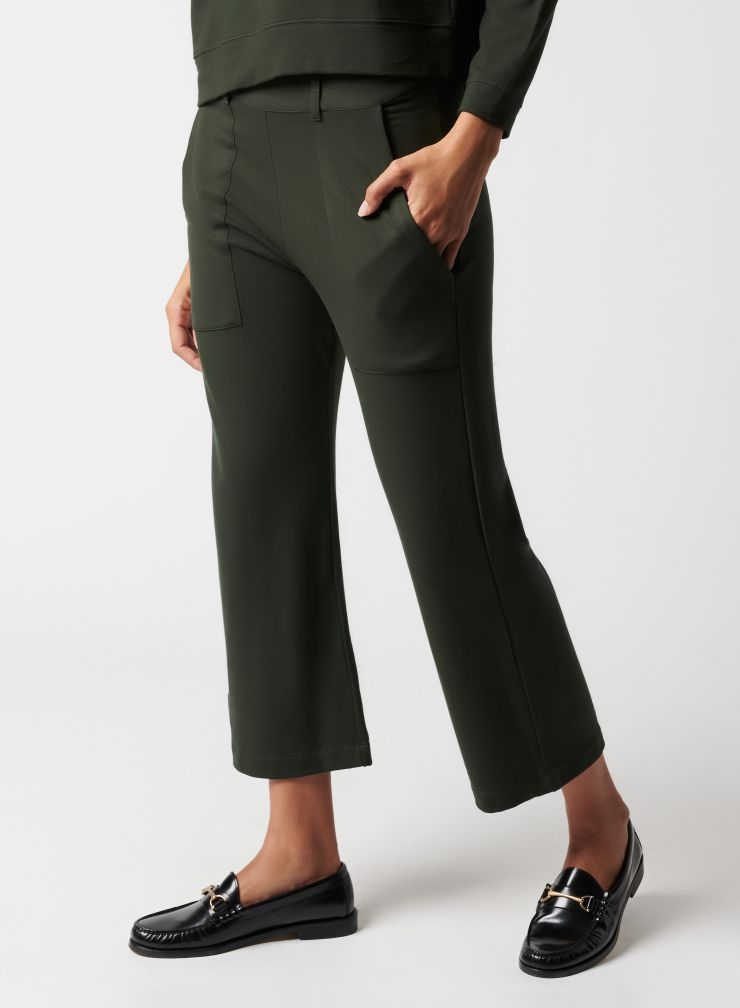 Pants with patch pockets