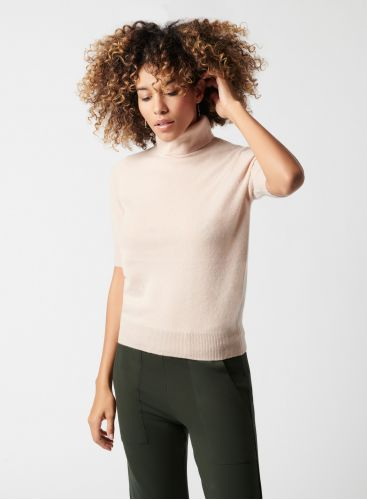 3/4 sleeve turtleneck sweater