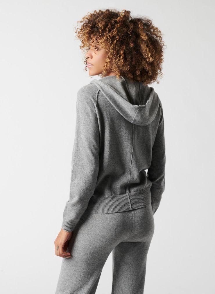 Knitted zip Hoodie
