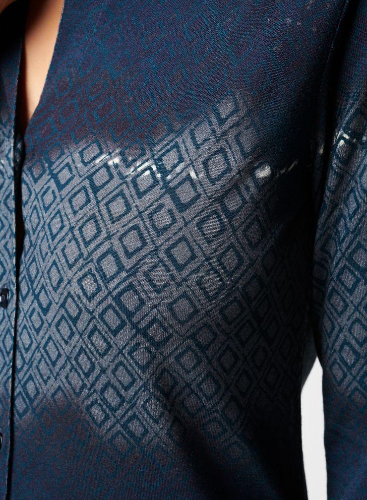 Tie & Dye diamond print shirt