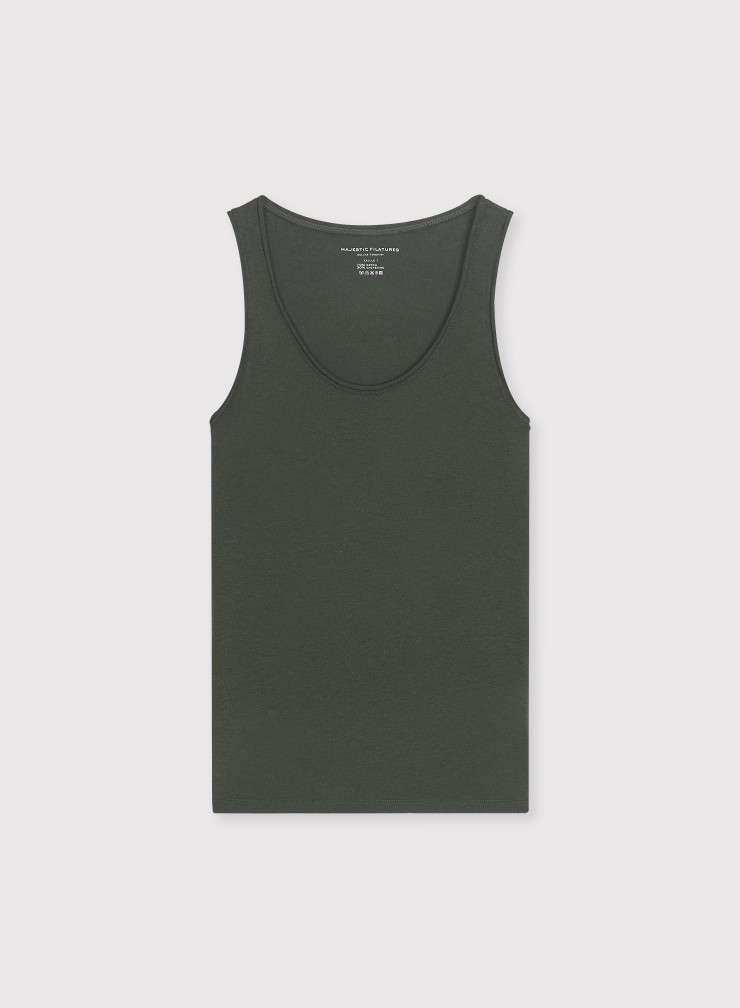 Camila rolled finish tank Top