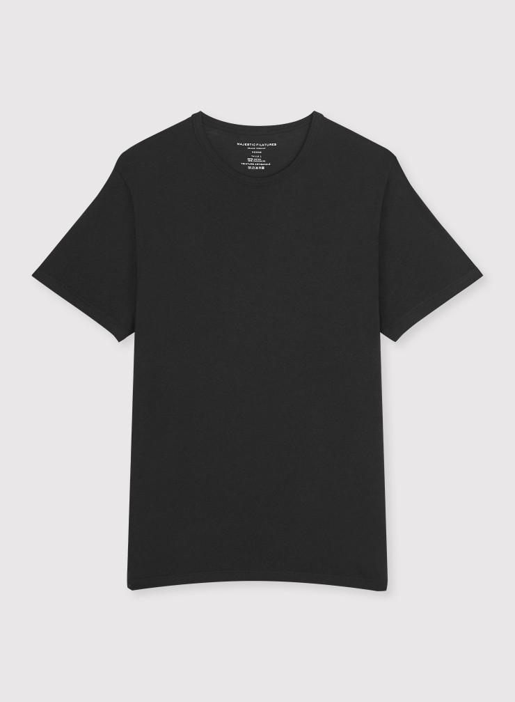 T-shirt col rond teinture artisanale