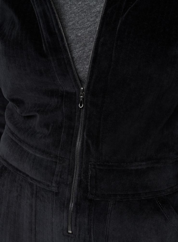 Combinaison zippée en velours côtelé