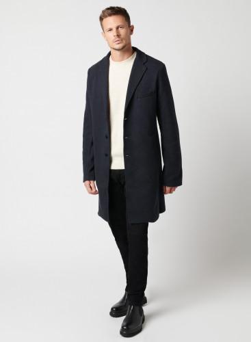 Manteau à motif chevron bicolore