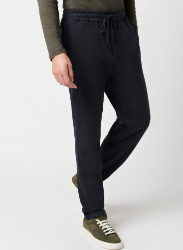 Pantalon à motif chevron bicolore