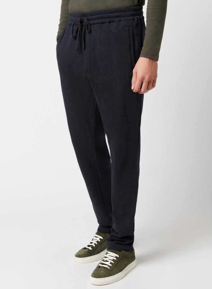 Two-tone chevron pants