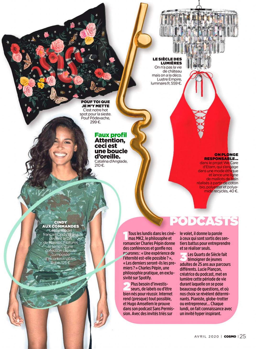 Cosmopolitan - Cosmo talks about our muse, Cindy Bruna...